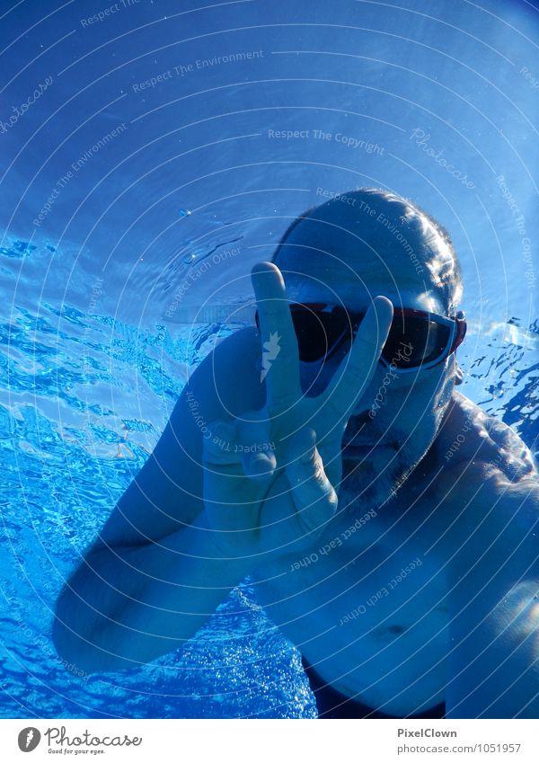 Abgetaucht Lifestyle Reichtum Freude Glück Freizeit & Hobby Ferien & Urlaub & Reisen Tourismus Sommerurlaub Strand Meer Wassersport tauchen maskulin Körper