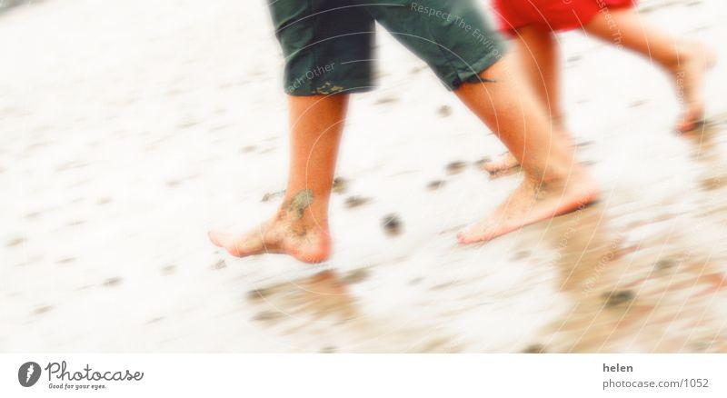 strandlŠufer Mensch Strand Beine