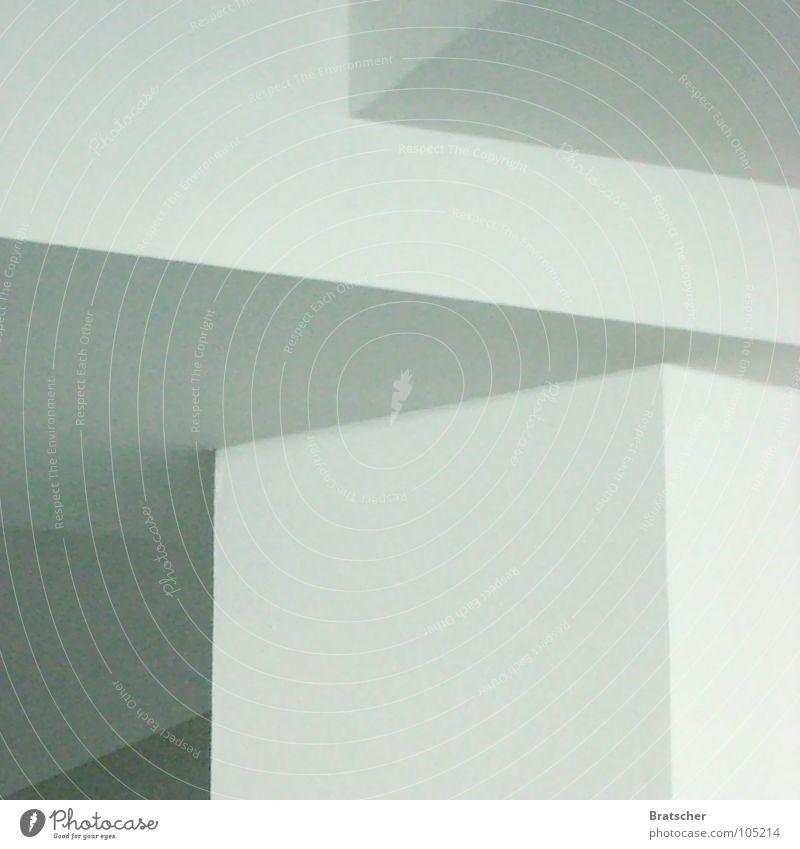 Konstruktivismus LI weiß ruhig grau Kunst Ecke einfach Kultur Konzentration sanft Säule eckig Mathematik Schattenspiel