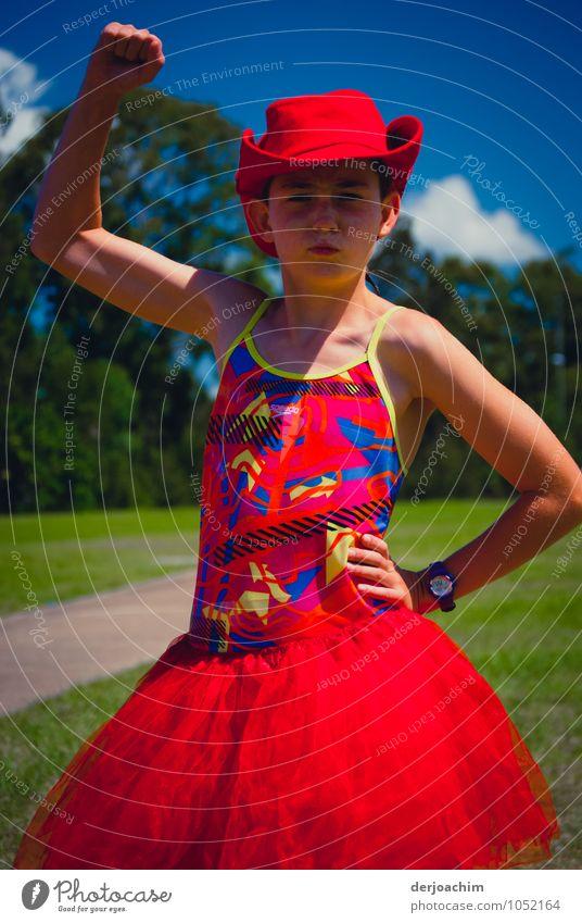 So sehen Sieger aus Mensch Kind Jugendliche Sommer rot Freude feminin lachen Schwimmen & Baden Zufriedenheit Körper Kindheit Erfolg fantastisch Lebensfreude
