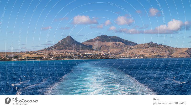 Porto Santo Ferien & Urlaub & Reisen Tourismus Ausflug Abenteuer Ferne Sightseeing Kreuzfahrt Urelemente Erde Wasser Himmel Wolken Sommer Schönes Wetter Hügel
