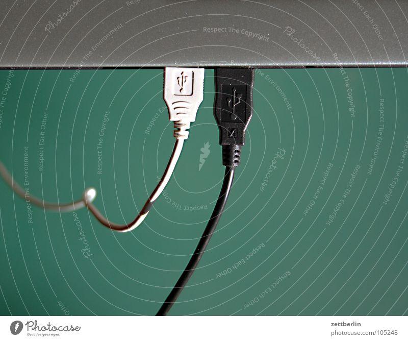 USB Schnittstelle weiß schwarz High-Tech Notebook Standleitung Arbeit & Erwerbstätigkeit Elektrisches Gerät Technik & Technologie Telekommunikation Kabel