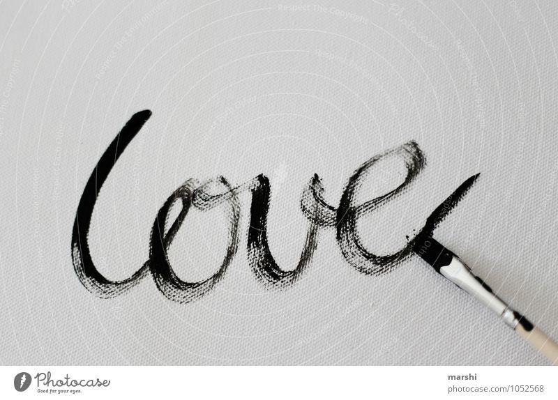 die LIEBE Kunst Künstler Maler Zeichen Schriftzeichen Gefühle Stimmung Liebe Verliebtheit Valentinstag streichen malen Pinsel Kunstwerk Leinwand Liebeserklärung