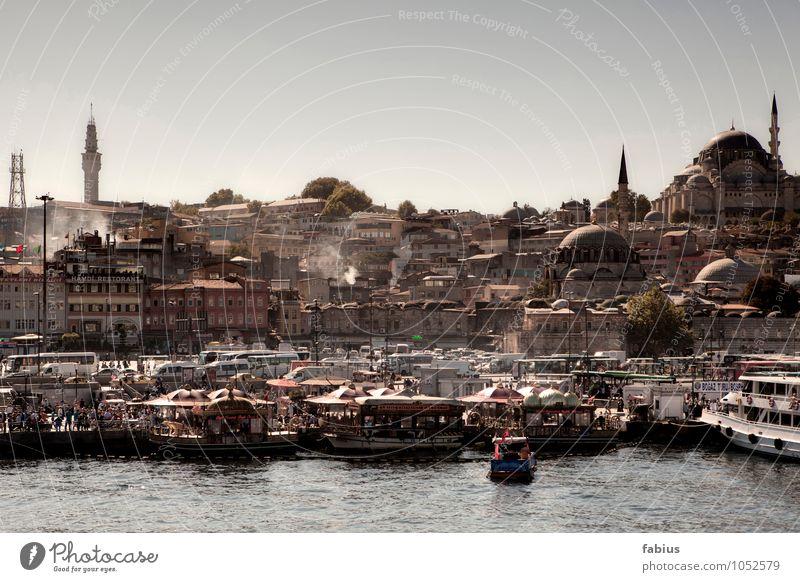 Istanbul Ferien & Urlaub & Reisen Stadt Sommer Meer Haus Ferne Architektur Gebäude Tourismus Bauwerk Hafen Skyline Hauptstadt Wahrzeichen Schifffahrt