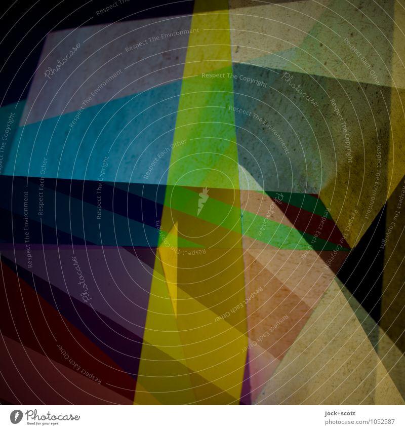 Syndrom Farbraum Design Grafik u. Illustration Dekoration & Verzierung Netzwerk Strukturen & Formen eckig viele Einigkeit innovativ Inspiration komplex