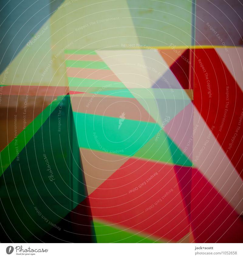Maser Stil Design Grafik u. Illustration Dekoration & Verzierung Ornament Streifen Geometrie Strukturen & Formen Ecke ästhetisch eckig Fröhlichkeit trendy