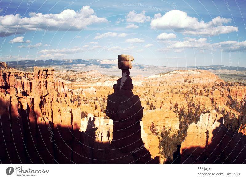 manifest des surrealismus. Himmel Natur Ferien & Urlaub & Reisen Landschaft Ferne Stein Felsen Horizont orange Aussicht USA Wüste Fernweh Amerika bizarr