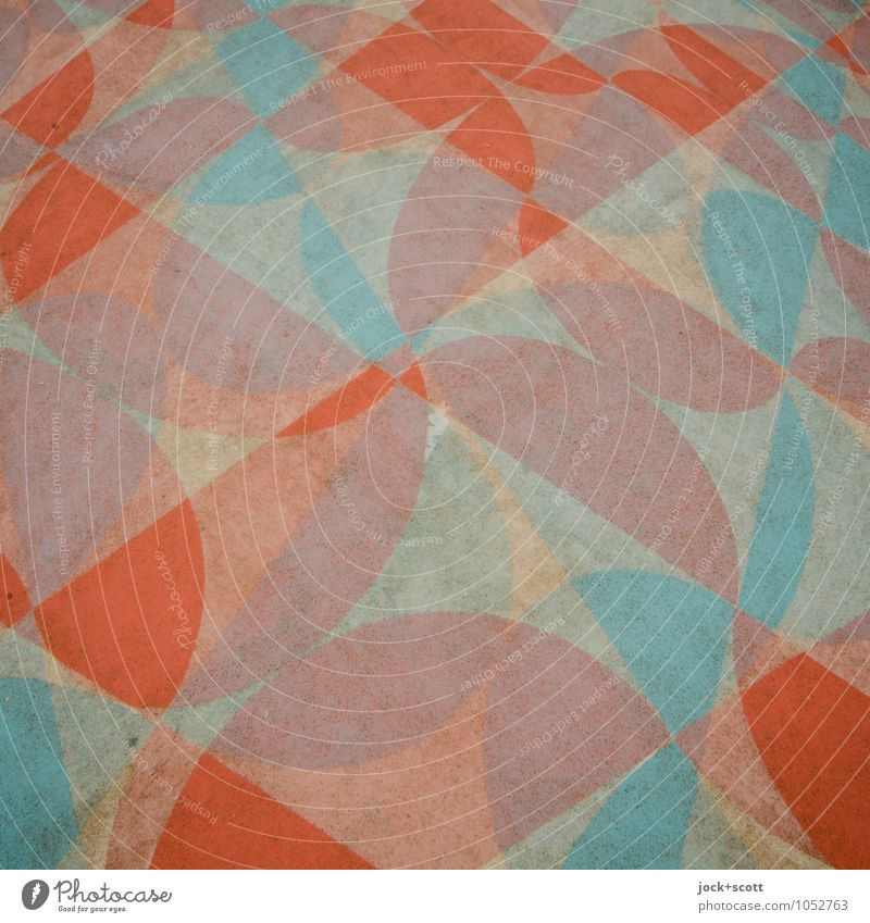 Schnittblume Stil Design Grafik u. Illustration Pflanze Spielplatz Bodenbelag Dekoration & Verzierung Ornament Blumenmuster Strukturen & Formen rund Halbkreis