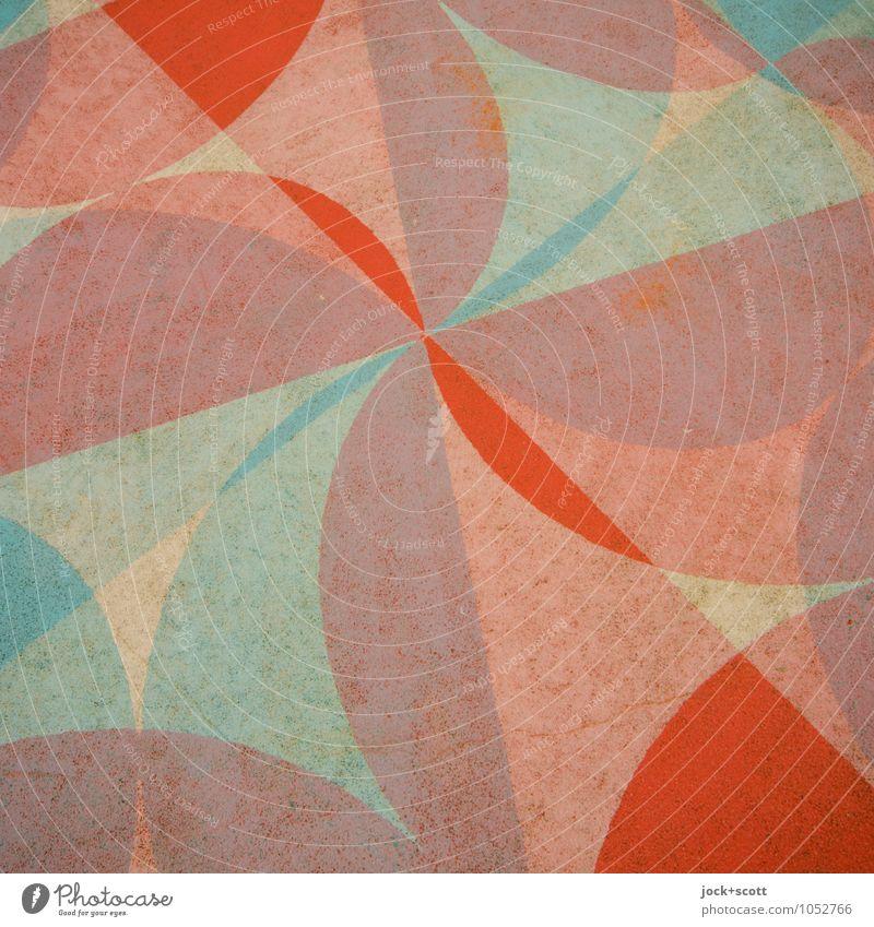 Flora Stil Design Straßenkunst Pflanze Spielplatz Bodenbelag Dekoration & Verzierung Ornament Blumenmuster Strukturen & Formen Kurve rund exotisch trendy schön