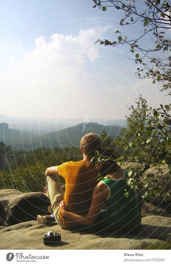 MY TRIP OVER 50 METERS :. Mensch Frau Himmel Ferien & Urlaub & Reisen Mann blau schön Sommer Baum Sonne Hand Meer rot Landschaft Einsamkeit Wolken
