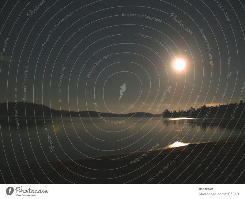 Yukon Mond Vollmond Meer Nacht Strand Küste Wasser Bucht Landschaft