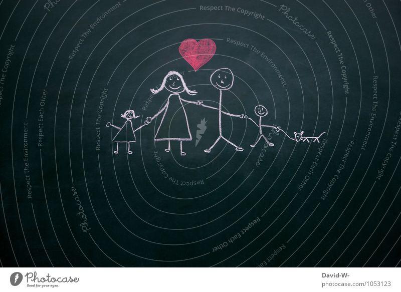 Das Wichtigste im Leben Mensch Frau Mann Mädchen Erwachsene Leben Liebe feminin Junge Glück Familie & Verwandtschaft maskulin Zufriedenheit Lächeln Herz berühren