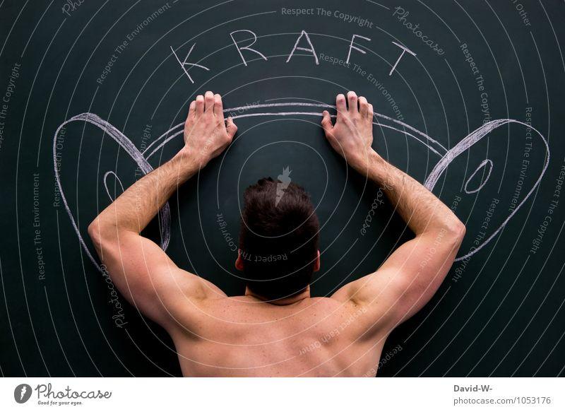 Muskeltraining Erster Satz Jugendliche nackt schön 18-30 Jahre Erwachsene Sport Kunst maskulin Kraft Körper Erfolg Rücken Fitness dünn sportlich stark