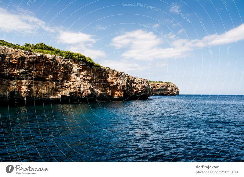 Mallorca von seiner schönsten Seite 30 - Landzunge Natur Ferien & Urlaub & Reisen Pflanze Meer Landschaft Tier Ferne Strand Umwelt Gefühle Küste Freiheit Felsen Tourismus Wellen Sträucher