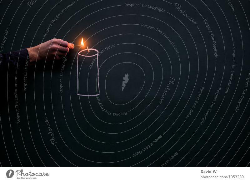 gleich brennt's Mensch Weihnachten & Advent Erholung Hand ruhig Tod Feste & Feiern Schule maskulin leuchten elegant Geburtstag Warmherzigkeit Romantik Trauer