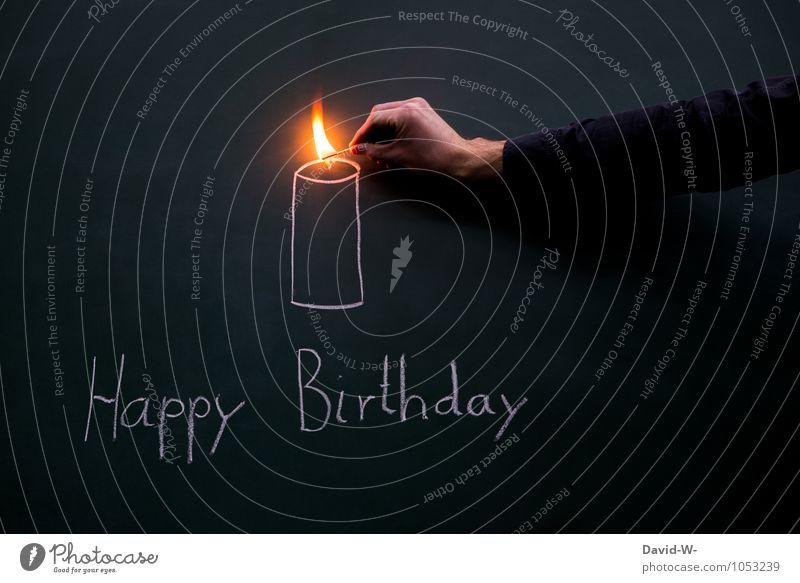 Happy Birthday Hand Erwachsene Stil Feste & Feiern Kunst Stimmung Freundschaft maskulin Zufriedenheit elegant Geburtstag Kreativität Warmherzigkeit Kerze Wunsch