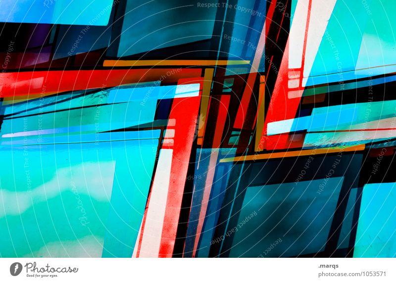 Vielfalt elegant Stil Design Fenster Glas Linie außergewöhnlich trendy modern neu verrückt mehrfarbig Farbe Kreativität Perspektive Zukunft Doppelbelichtung