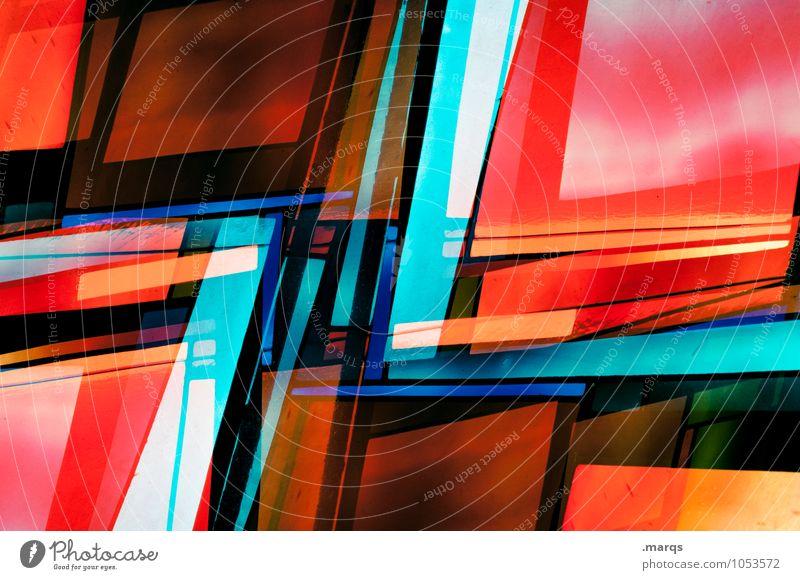 Schnittig schön Farbe Fenster Stil Hintergrundbild außergewöhnlich Linie Kunst Design elegant modern Glas verrückt Kreativität Streifen einzigartig