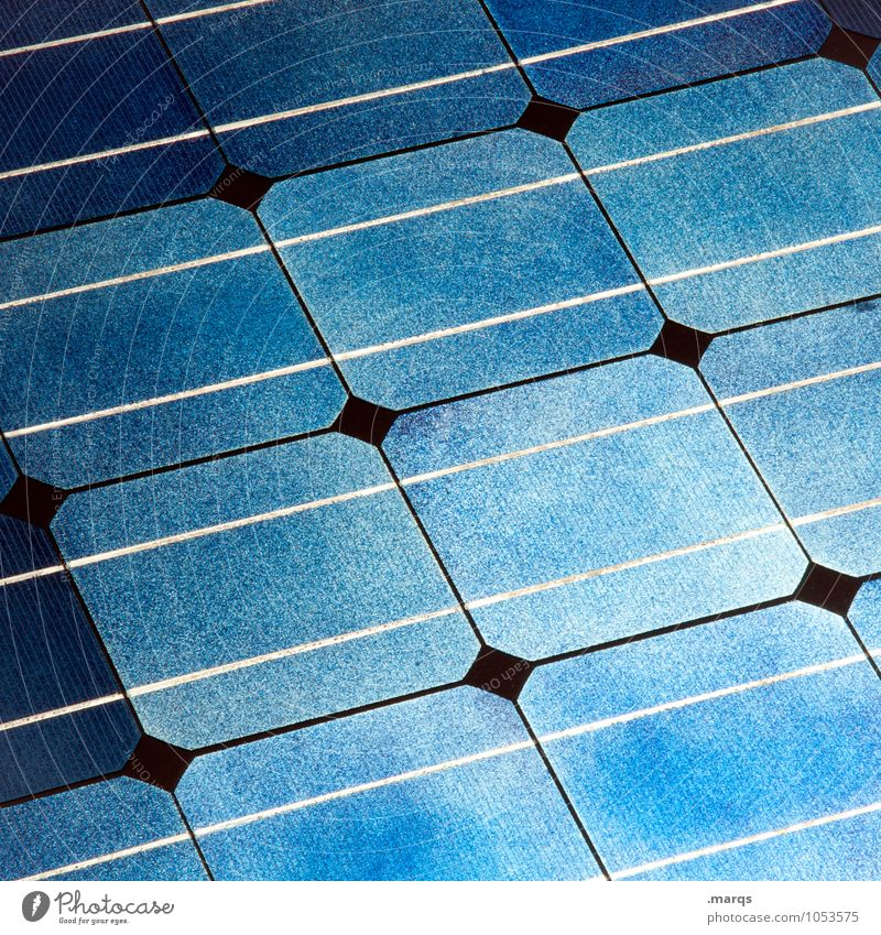Zellen Technik & Technologie Wissenschaften Fortschritt Zukunft High-Tech Energiewirtschaft Sonnenenergie Solarzelle blau Energiekrise energiegeladen