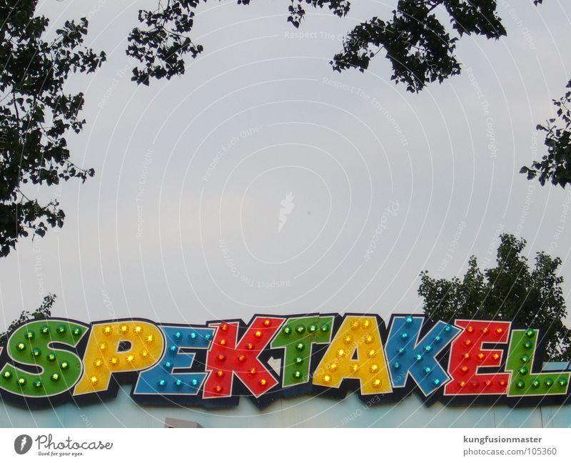 Spektakel Freude Graffiti Schriftzeichen Buchstaben Jahrmarkt Karussell Wandmalereien Spektakel