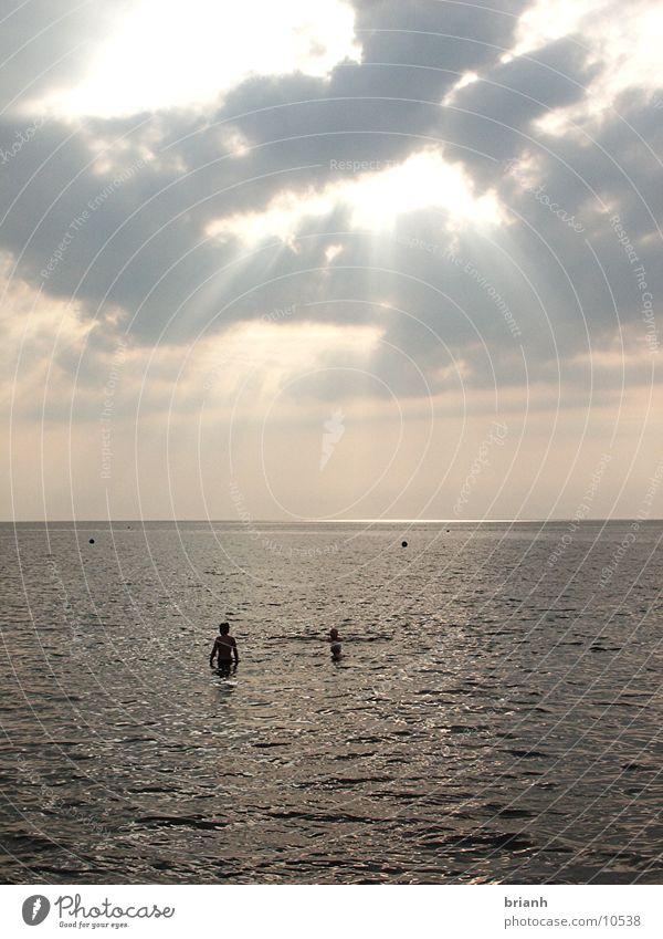 Nordsee 1 Sommer Wolken Abend Wasse