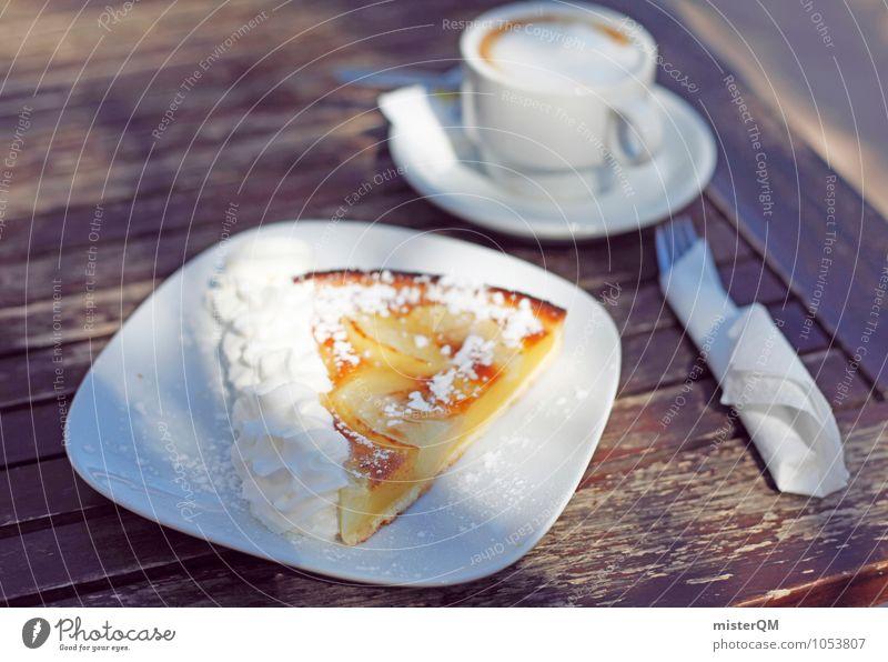 Kuchen selbstgemacht. Lebensmittel Ernährung Frühstück ästhetisch Kaffee Kaffeetasse Kaffeetrinken Kaffeepause Frühstückstisch lecker Mallorca ungesund