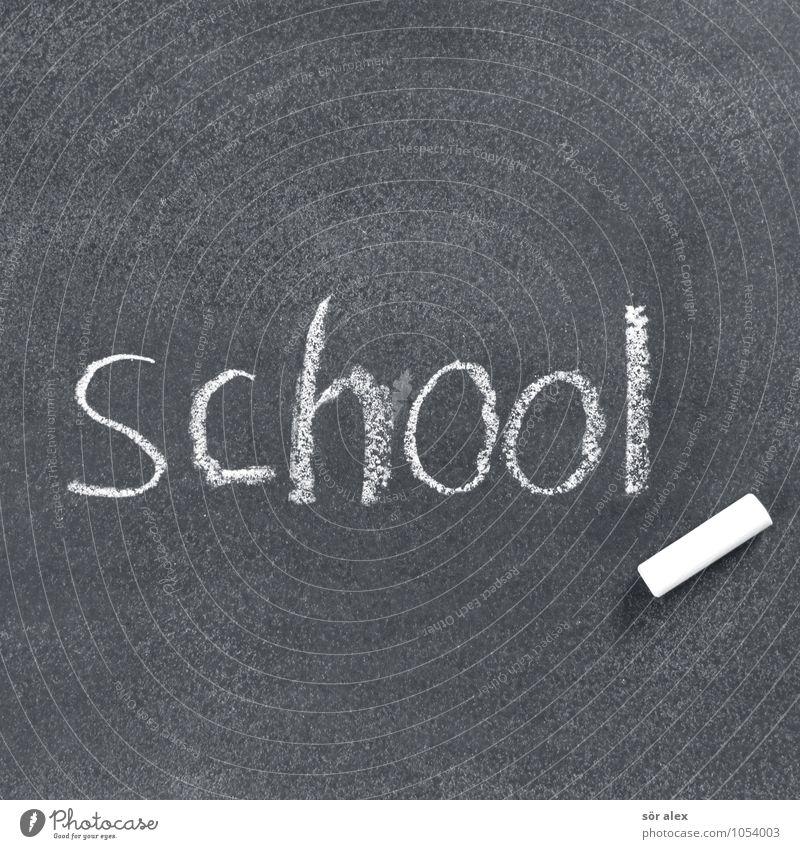 Ferien Bildung Wissenschaften Schule lernen Tafel Schulkind Schüler Lehrer Karriere Erfolg Zeichen Schriftzeichen Kreide Schwarzweißfoto Innenaufnahme