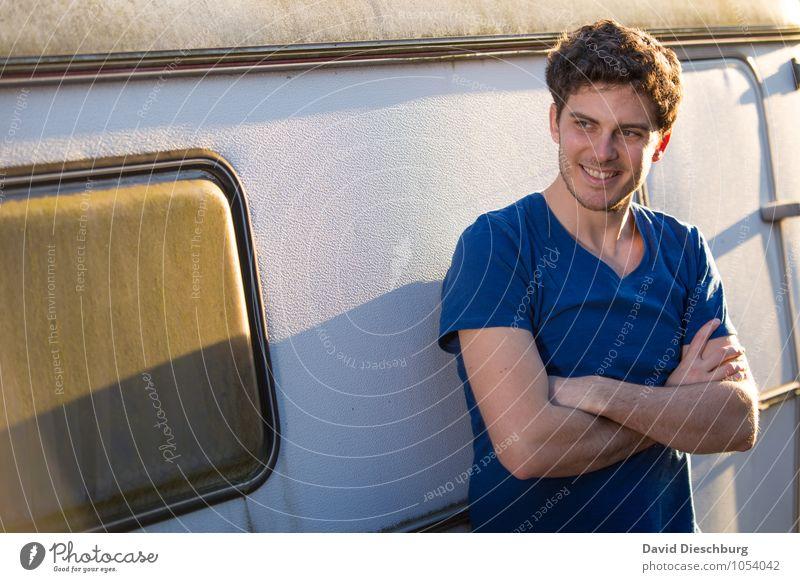 Frei sein Mensch Ferien & Urlaub & Reisen Jugendliche Mann Sommer Freude Junger Mann 18-30 Jahre Erwachsene Gesicht Leben Gefühle Frühling Glück maskulin
