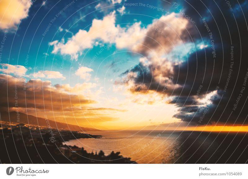 buntes Teneriffa Ferien & Urlaub & Reisen Ferne Sommerurlaub Insel Umwelt Natur Landschaft Luft Wasser Himmel Wolken Horizont Sonne Sonnenaufgang