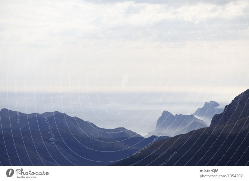 Forward We Go. Natur Ferne Berge u. Gebirge Zufriedenheit ästhetisch Abenteuer Hügel Spanien Fernweh Mallorca Bergsteigen Bergkette Bergkuppe Bergkamm Urlaubsfoto Serra de Tramuntana