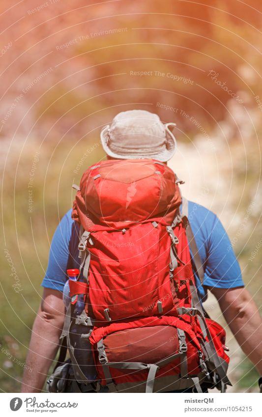Krieger I Mann Einsamkeit Wärme Freiheit Kunst maskulin Idylle wandern laufen ästhetisch Abenteuer Spanien Fernweh Hut Rucksack schwer