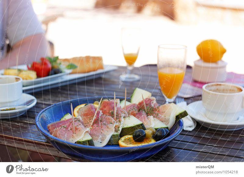 Frühstück auf Mallorca Gesunde Ernährung Lebensmittel ästhetisch Ernährung Tisch lecker Appetit & Hunger Mallorca Frühstück Snack Urlaubsfoto Melonen Schinken Urlaubsstimmung Orangensaft Frühstückstisch