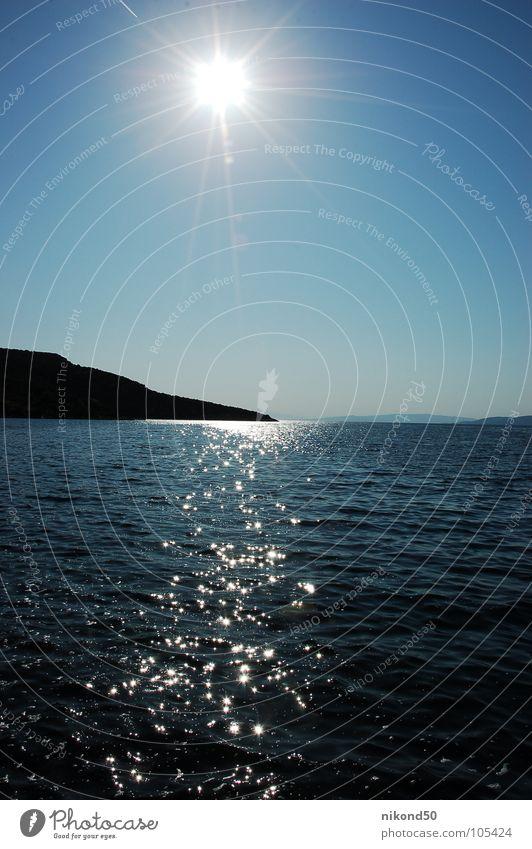 Meer Sommer Ferien & Urlaub & Reisen Physik Sonne Kroatien Wasser blau Himmel Wärme reflektion