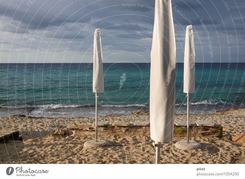 Eingepackt Natur Ferien & Urlaub & Reisen blau Himmel (Jenseits) Sommer weiß Sonne Meer Erholung Landschaft Wolken Strand Umwelt Küste Sand Tourismus