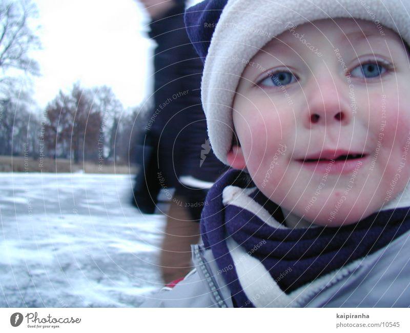 The Iceman Kind Winter Gesicht kalt Schnee Eis Mütze Schlittschuhlaufen
