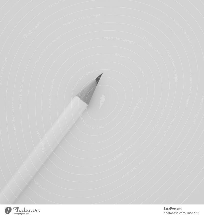 / Arbeit & Erwerbstätigkeit Büroarbeit Arbeitsplatz Business Holz Linie liegen ästhetisch grau Design ruhig Schreibstift Bleistift Tisch schreiben Schreibtisch