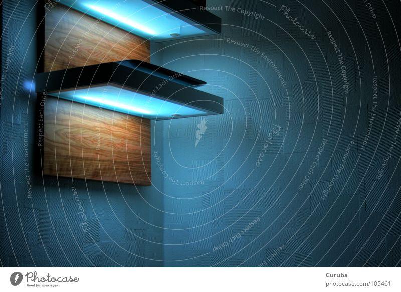 FutureLight / PolarShadow HDR Licht Holz Zeder Zukunft Elektrisches Gerät Technik & Technologie blue light blau Schatten future
