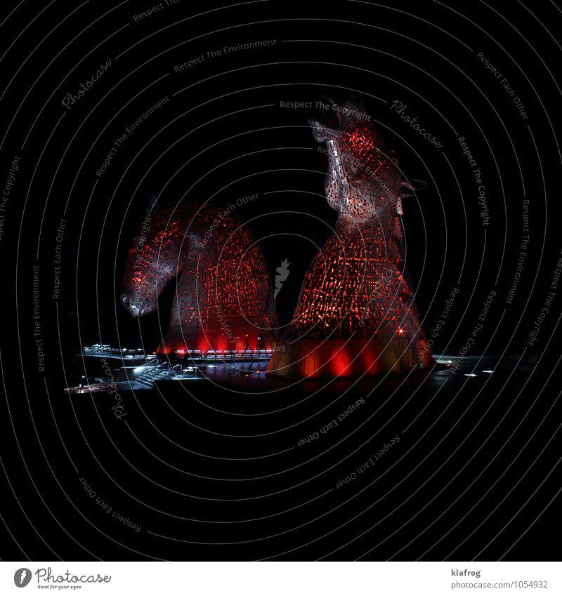 Wer reitet so spät durch Nacht und Wind Himmel schön Wasser rot ruhig Tier schwarz Schwimmen & Baden Kunst Metall glänzend träumen Luft Design elegant Kraft