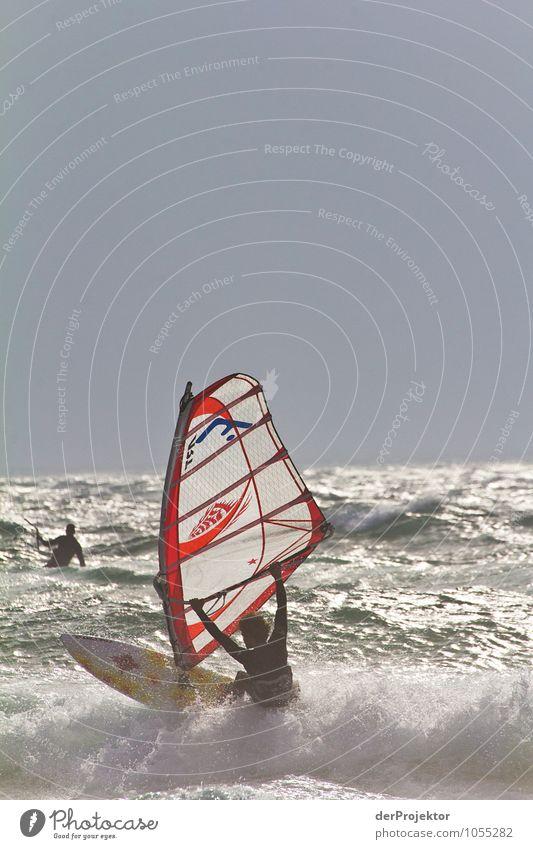 Im Surfparadies Natur Ferien & Urlaub & Reisen Meer Landschaft Strand Ferne Umwelt Gefühle Küste Sport Freiheit Kraft Wellen Tourismus Lebensfreude Schönes Wetter