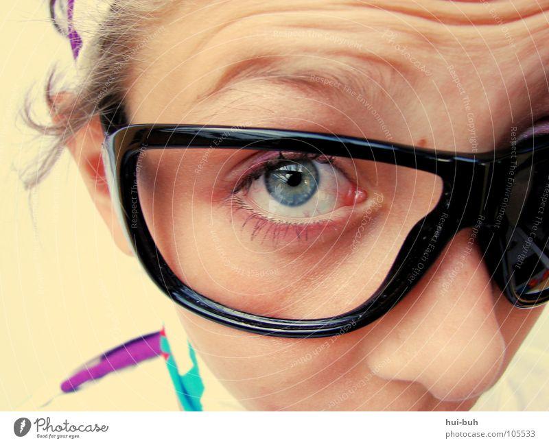 Labamba Frau Kind Jugendliche schön Mädchen Ferne Auge klein lustig groß verrückt süß Brille Kommunizieren niedlich