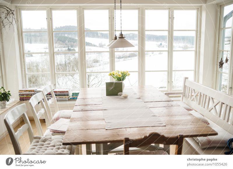 Skandinavien style Lifestyle Stil Winter Schnee Häusliches Leben Wohnung Haus Innenarchitektur Möbel Stuhl Tisch Raum Wohnzimmer Landschaft schlechtes Wetter