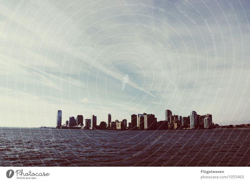 City of New York Skyline i) Ferien & Urlaub & Reisen Tourismus Ausflug Ferne Freiheit Sightseeing Städtereise überbevölkert Hochhaus Bauwerk Gebäude