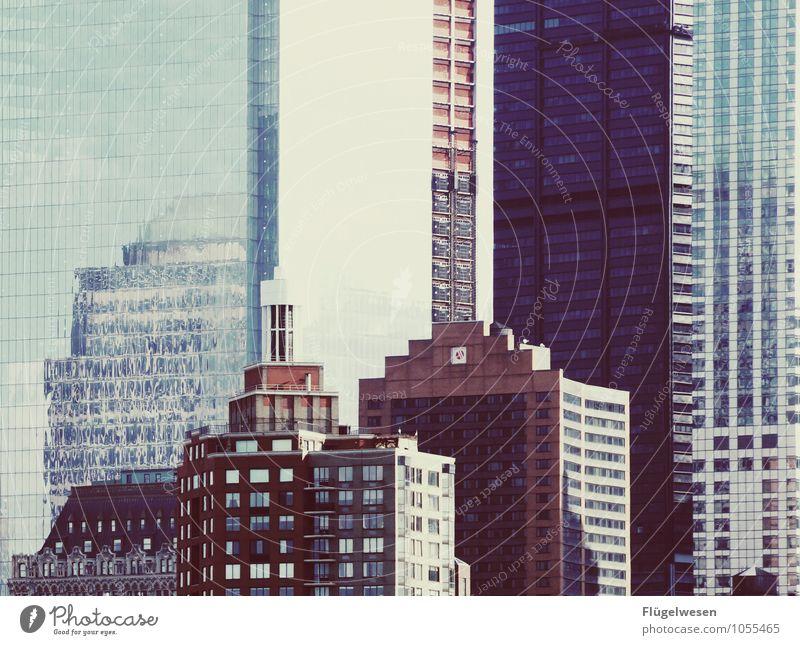 Manhattan von Schöller Ferien & Urlaub & Reisen Haus Fenster Architektur Gebäude Stimmung Arbeit & Erwerbstätigkeit Häusliches Leben Büro Hochhaus USA Bauwerk