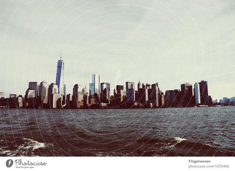 City of New York Skyline j) Ferien & Urlaub & Reisen Tourismus Ausflug Ferne Freiheit Sightseeing Städtereise überbevölkert Hochhaus Bauwerk Gebäude Architektur