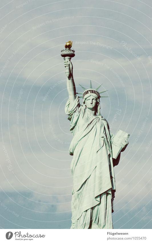 Frau v. Freiheit Ferien & Urlaub & Reisen Ferne Tourismus Ausflug Abenteuer USA entdecken Wahrzeichen Denkmal Sehenswürdigkeit Amerika Sightseeing Städtereise
