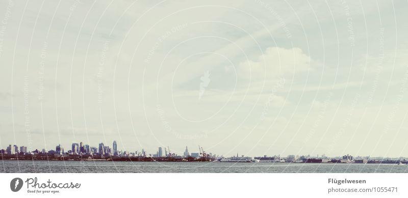 City of New York Skyline l) Ferien & Urlaub & Reisen Tourismus Ausflug Ferne Freiheit Sightseeing Städtereise Hochhaus New York City Himmel (Jenseits) Amerika