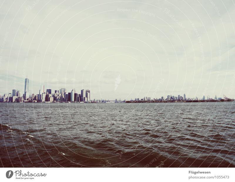 City of New York Skyline n) Ferien & Urlaub & Reisen Tourismus Ausflug Ferne Freiheit Sightseeing Städtereise überbevölkert Hochhaus Bauwerk Sehenswürdigkeit