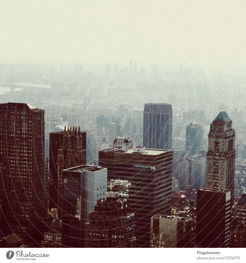 City of New York Skyline q) Ferien & Urlaub & Reisen Tourismus Ausflug Ferne Freiheit Sightseeing Städtereise überbevölkert Hochhaus Bauwerk Gebäude Architektur