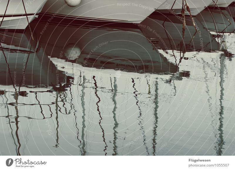 Boote [2] Wasserfahrzeug Schifffahrt Hafen Jacht Jachthafen Anlegestelle Schiffswerft Segeln Motorboot Seil Anker Finnen See Fluss ankern Dampfschiff