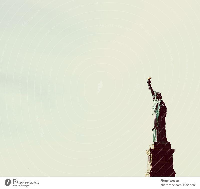 Sag zum Abschied leise servus Ferien & Urlaub & Reisen Tourismus Sightseeing Städtereise Sehenswürdigkeit Wahrzeichen Denkmal Freiheitsstatue atmen Neugier